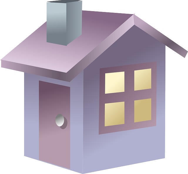 fialový domek