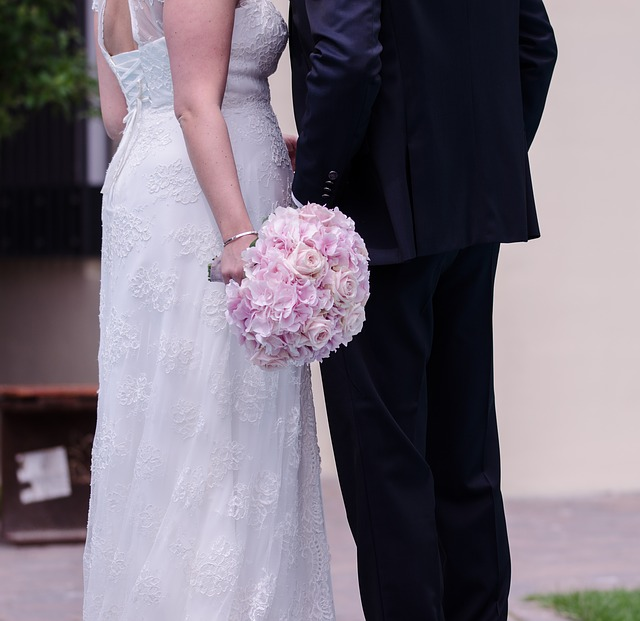 růžová svatební kytka