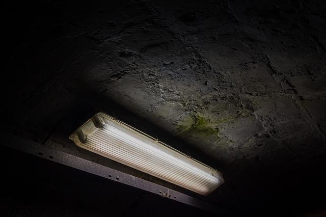typická zářivka veřejného osvětlení